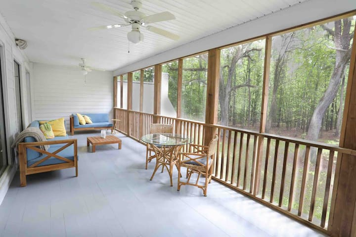 We offer an adjoining guest balcony porch, perfect for enjoying coffee in the mornings, or viewing wildlife in the early evenings