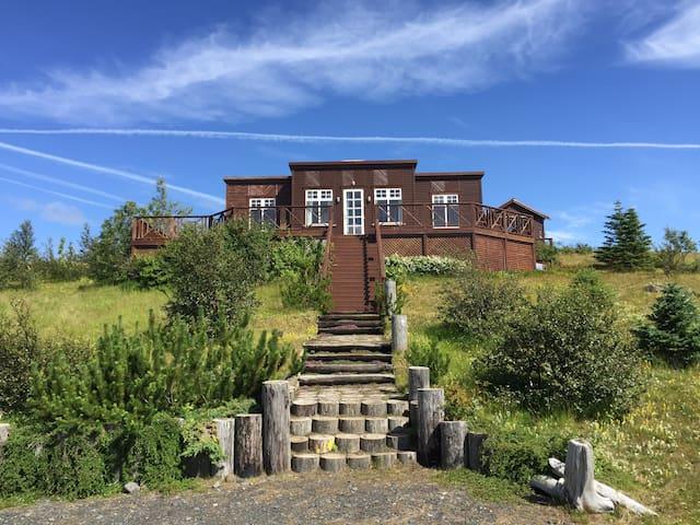 Hvolsvöllur Fljótshlíð South coast Iceland