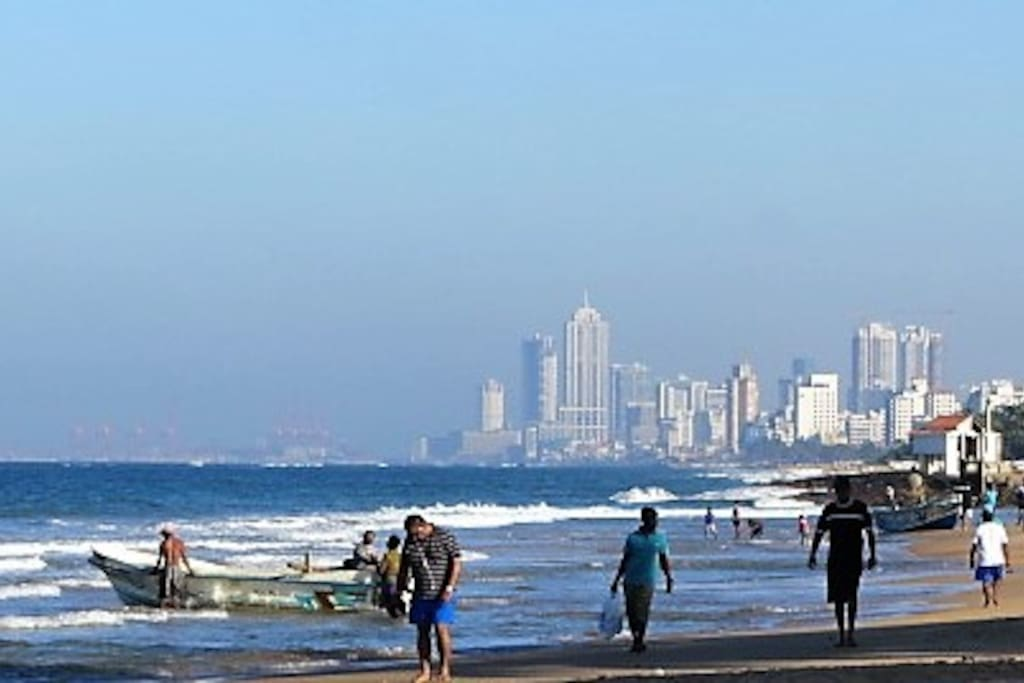 Sky line of Colombo as seen from Mt'Lavinia