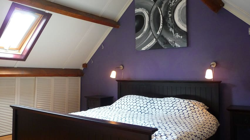 Beautiful bedroom with a large and electric adjustable bed!