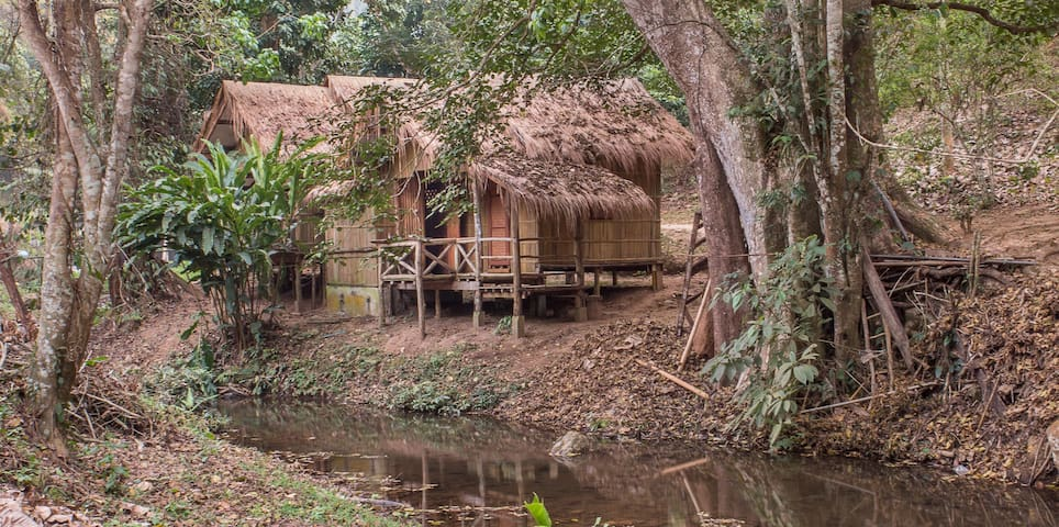 DreamCaught Treehouses - Riverfront Cabin 1 - Mae Taeng