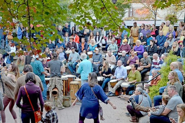 Drum circle Downtown Asheville