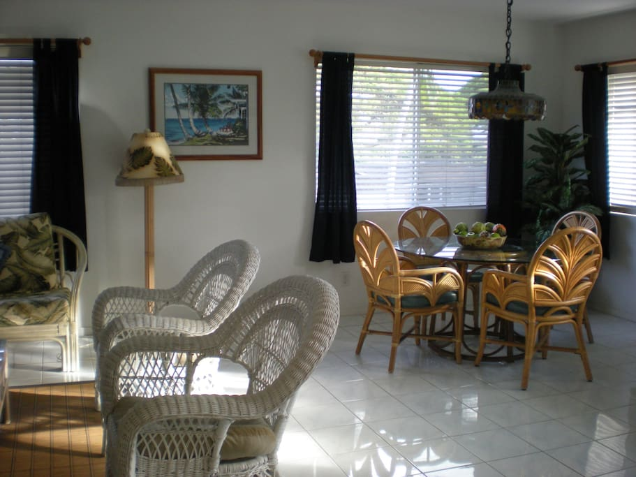 Dining  area adjacent to the living room