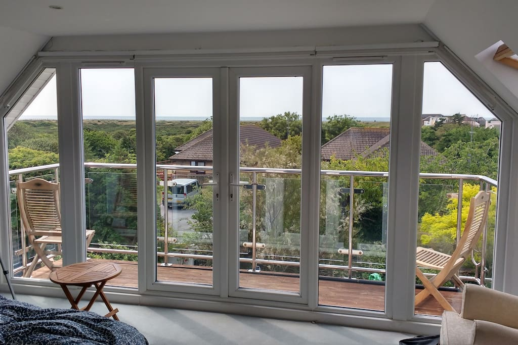 View over the nature reserve from the master bedroom