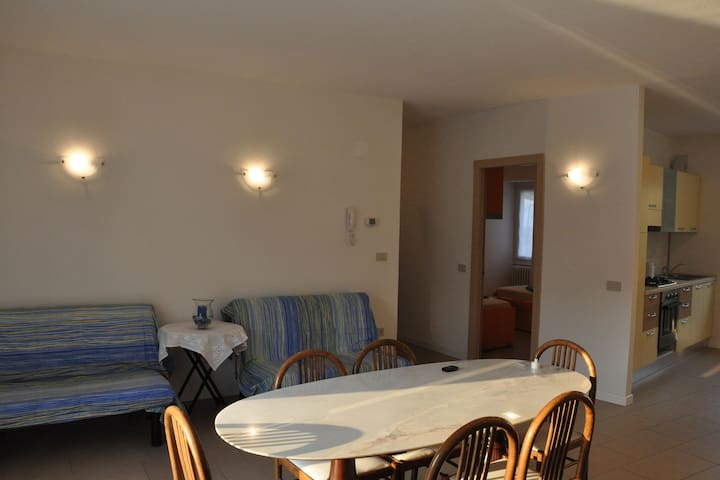 Apartment with terrace on Lake Iseo.