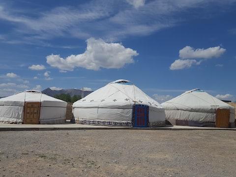 Yurts in Olgii