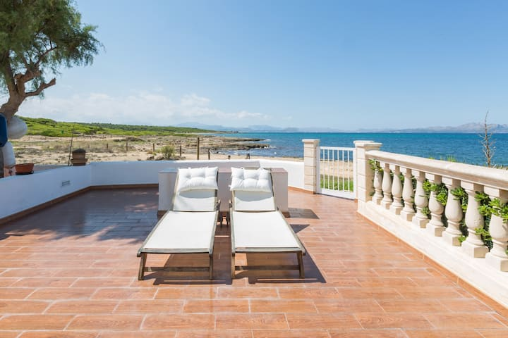 ES MIRADOR (SOLIDAGO) - Spectacular and modern seafront beach house with a great terrace and direct access to the rocky beach.