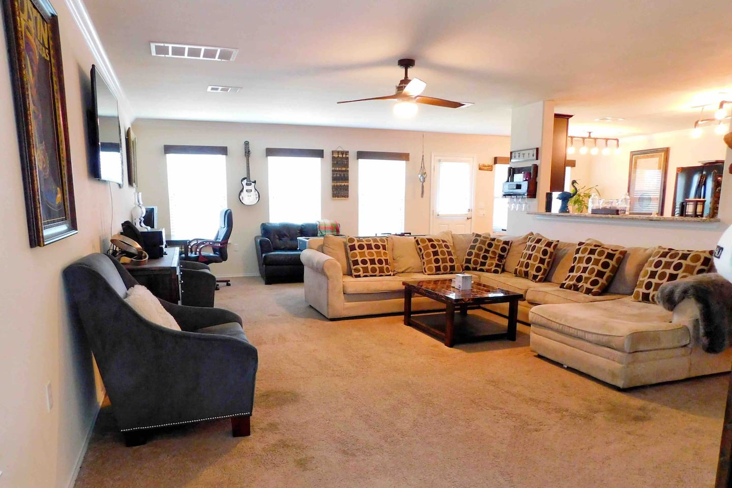 Come unwind in the Living Room, there is plenty of room for everyone!