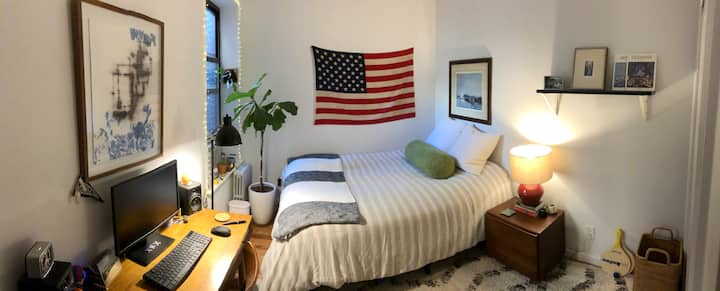 Sublet Bright Furnished Room-dates flexible$450/wk