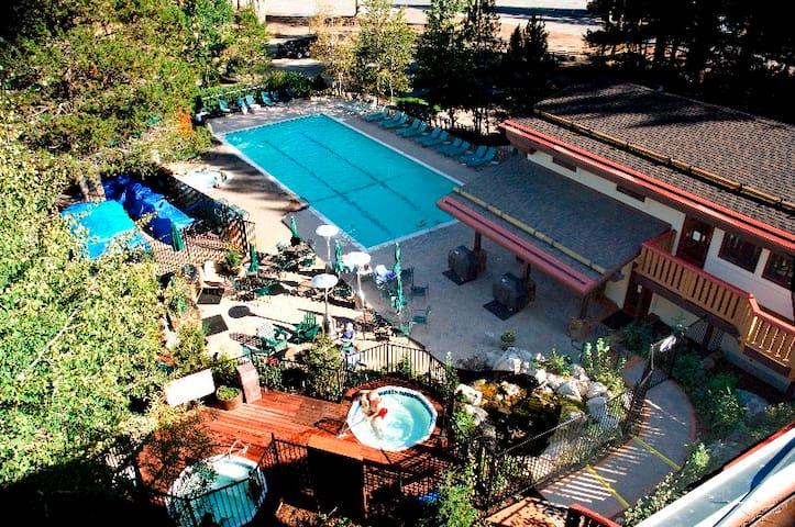 Enjoy the heated pool
