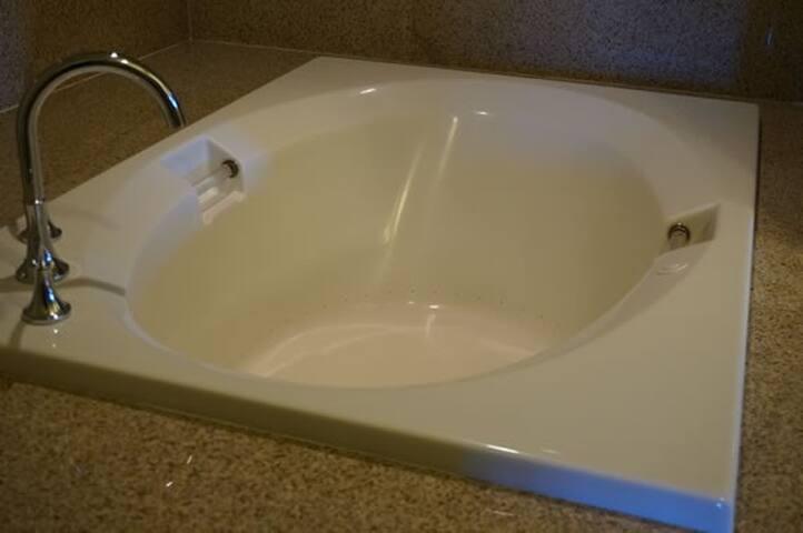 Whirlpool tub in-unit
