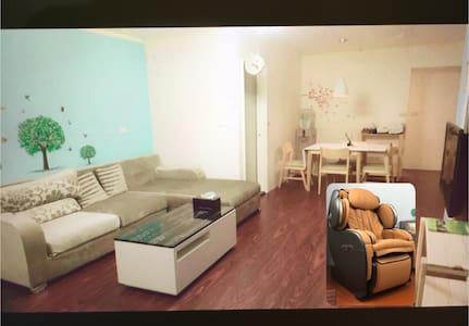 花蓮市中心,鄰近夜市,兩房一廳的格局適合家庭入住,一次只接待一組客人。購入新的高級按摩椅