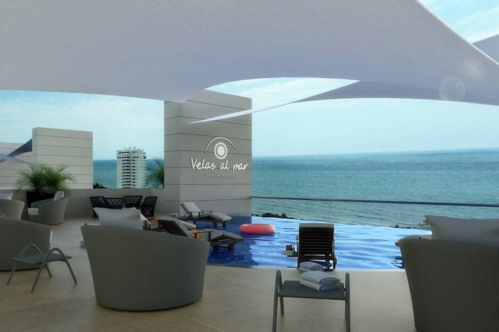 Georgeous apartment with sea view in Rodadero