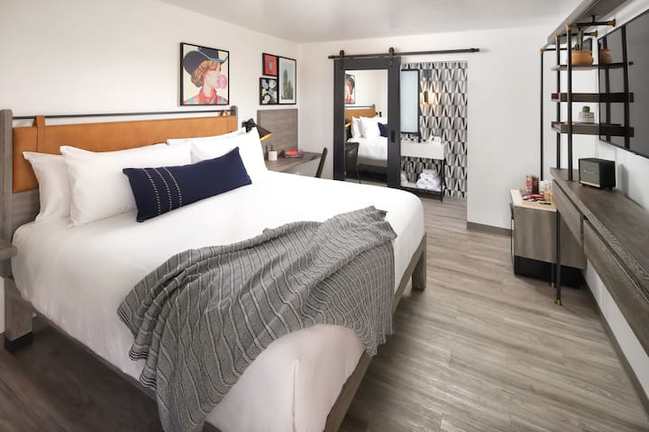 Modern styled boutique rooms with local character