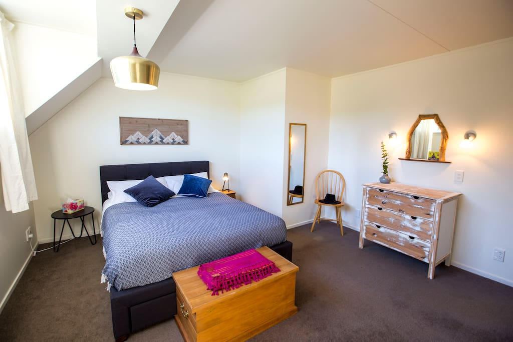Essential: Super comfy bed with pillow-top mattress and plenty of space in the Loft master bedroom.