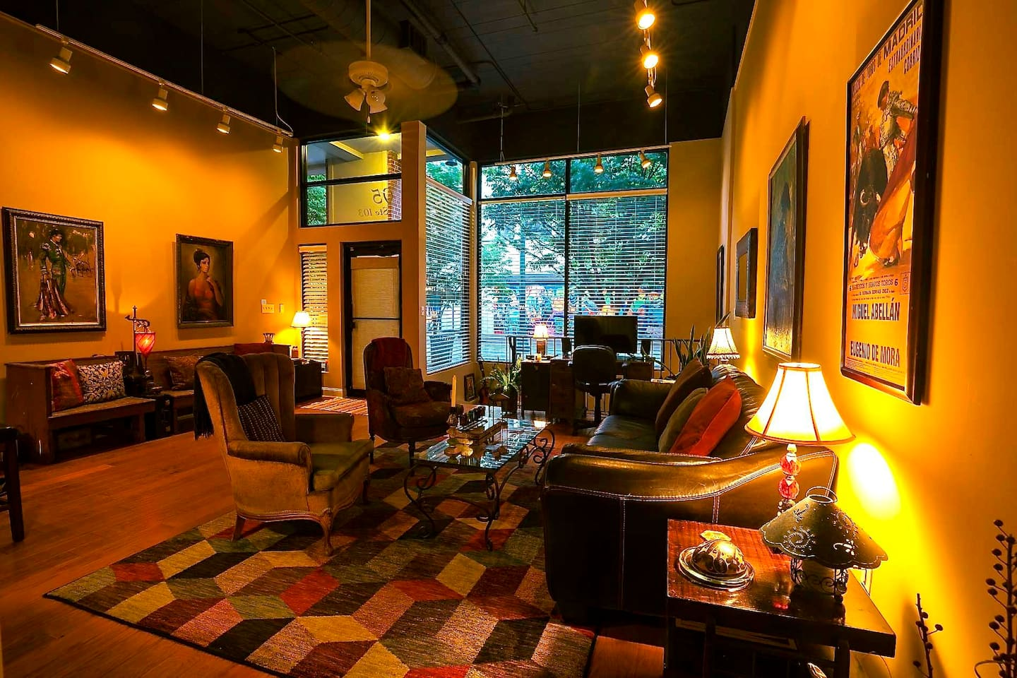 Enjoy a 5-star, luxurious, eclectic condo in the heart of downtown Memphis.