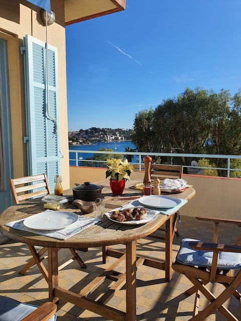 Beautiful flat in the heart of Villefranche.