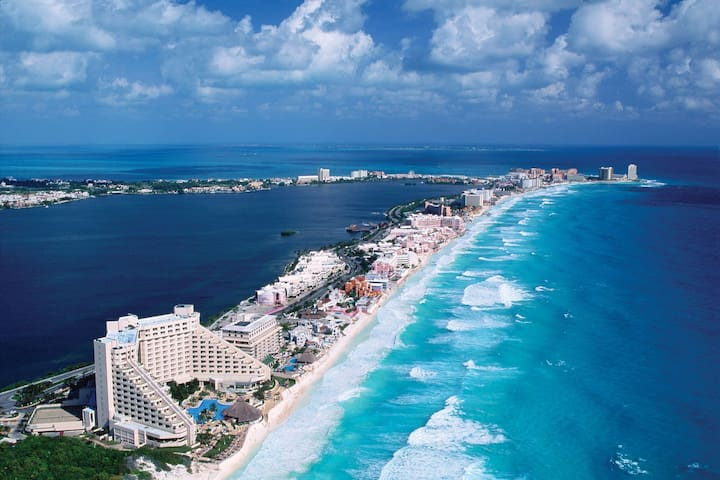 Cancun, furnished apartment. 2 bedroom. Safe. - Cancún