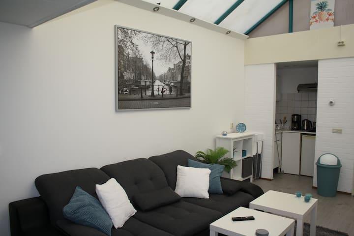 Bright studio apartment in Amsterdam