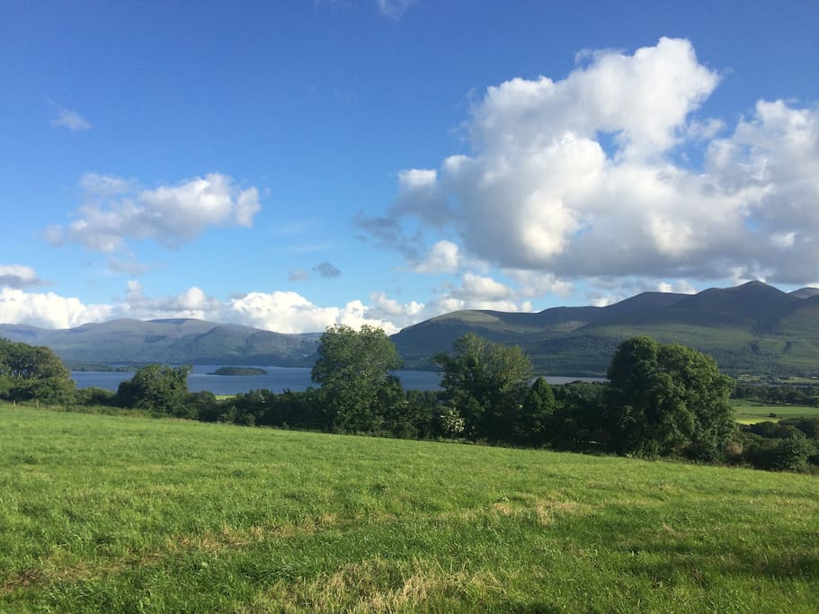 Views of the Killarney lakes from front of house.