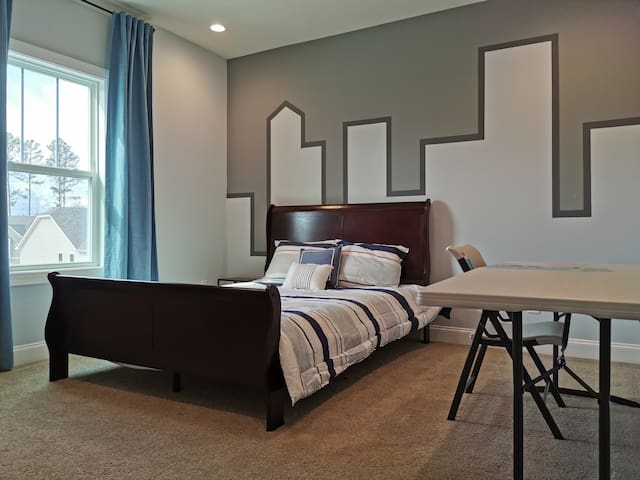 private bedroom with bathroom in a new house