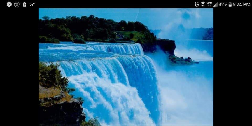 Located between  Buffalo niagara River and Canada
