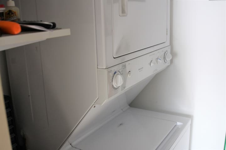 In unit washer & dryer for your convenience, in case something is getting dirty