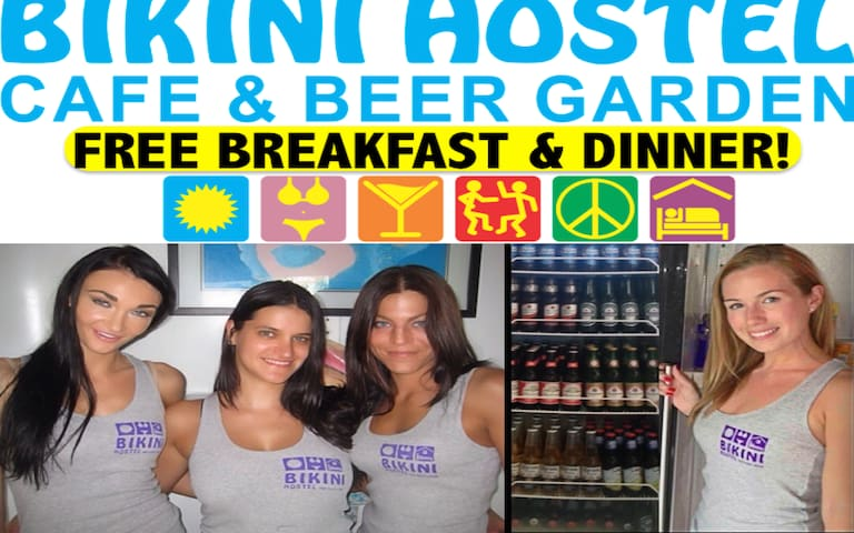 Bikini Hostel - Meals Included (6 Bed Female Dorm)