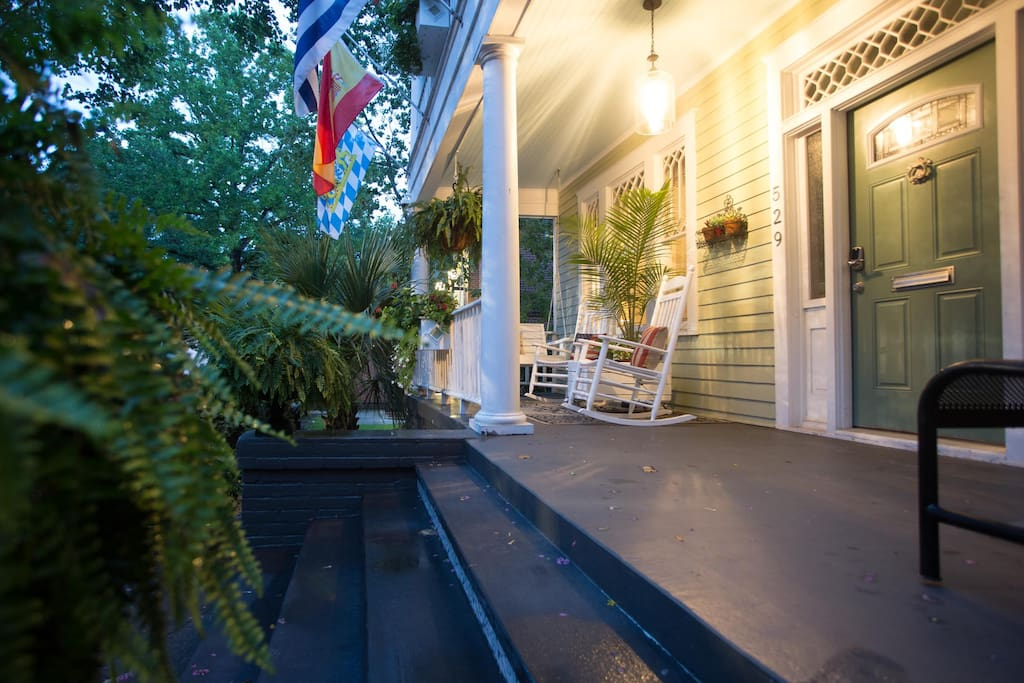 After a long day of sightseeing the porch is the perfect place to return to.