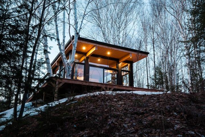 Lakefront, Scandinavian cabin near Tremblant
