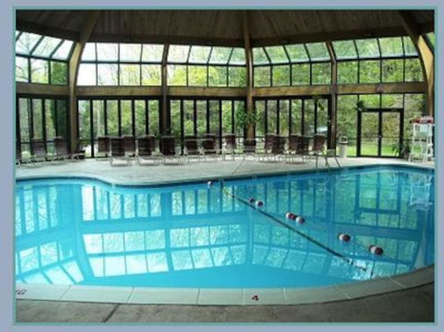 Enjoy this indoor swimming pool for a perfect dip.