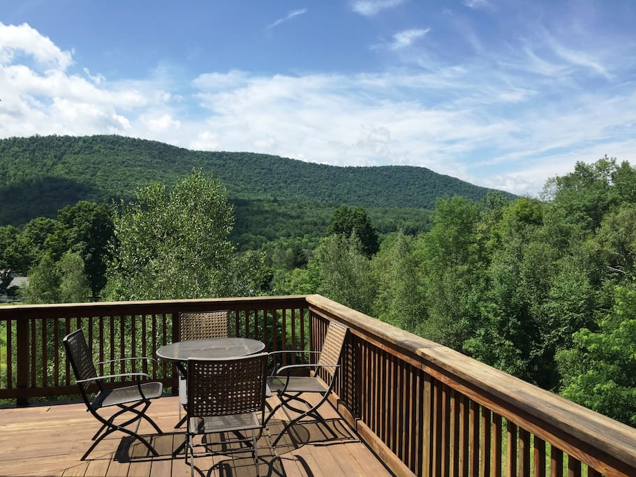Great Catskills View from the deck at Sky View Lodge