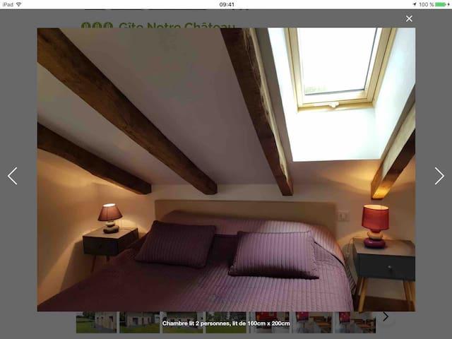 Chambre 2 lit 160cm avec rangement
