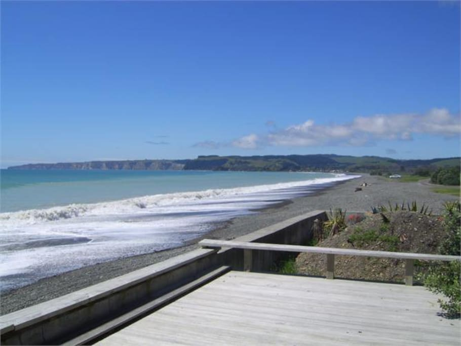 View of beach out to Cape Kidnappers