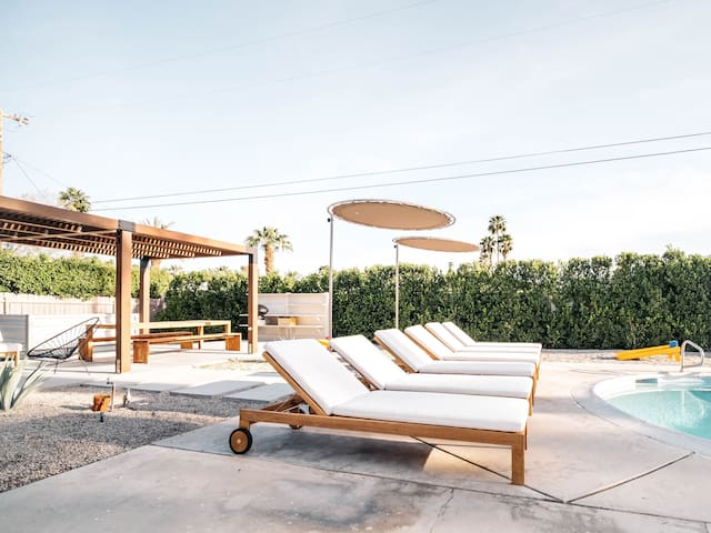 Relax Poolside at The Roseta, a Desert Getaway