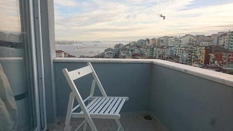 Fin studioleilighet med utsikt over Bosporus