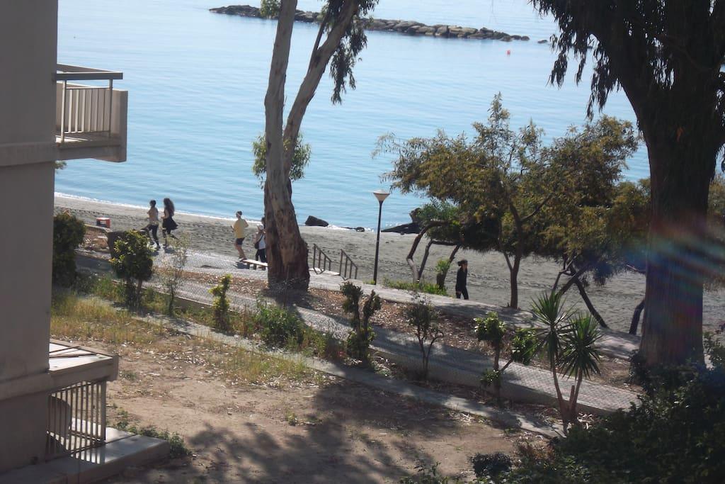 Jogging or walking on the beach promenade !