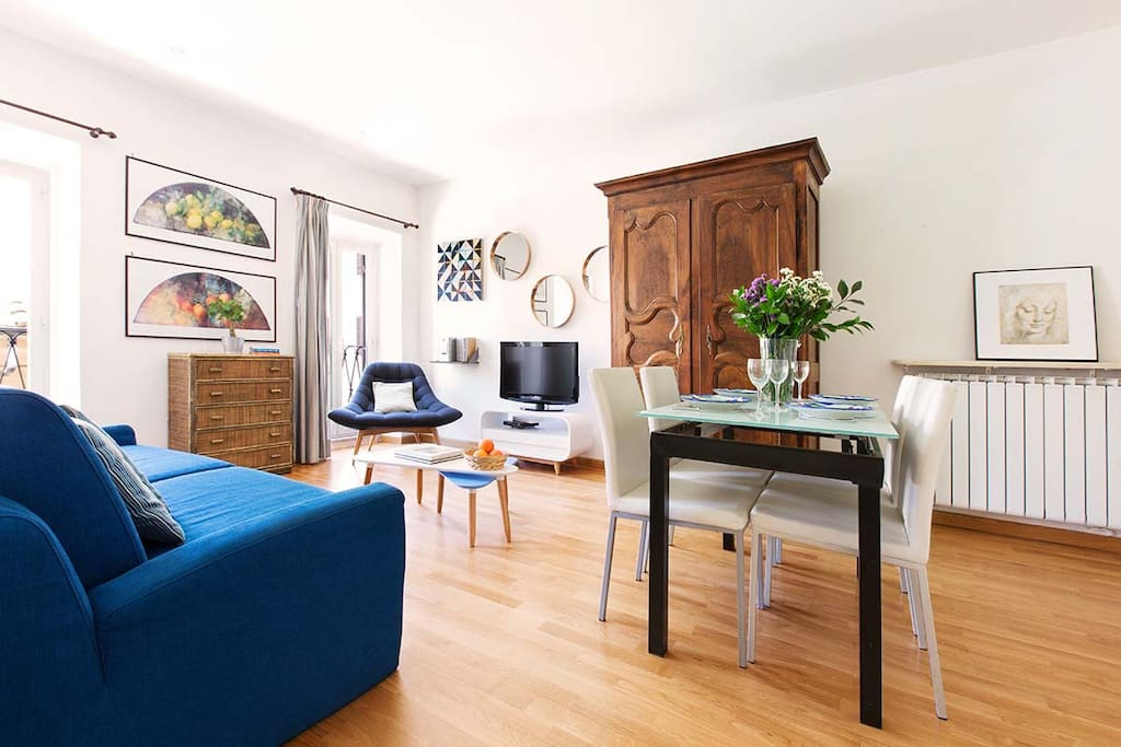 One bedroom holiday apartment in Campo de Fiori neighborhood - Living room