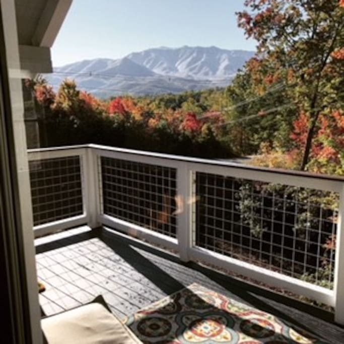 Best views the Smoky Mountains have to offer. Extremely private but only 4 miles to the main strip in Gatlinburg
