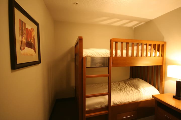 Small bedroom with comfortable bunk beds