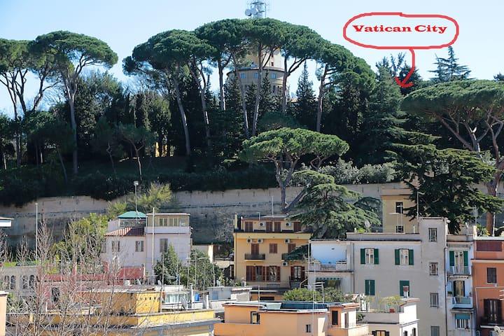 Splendido balconcino sul Vaticano
