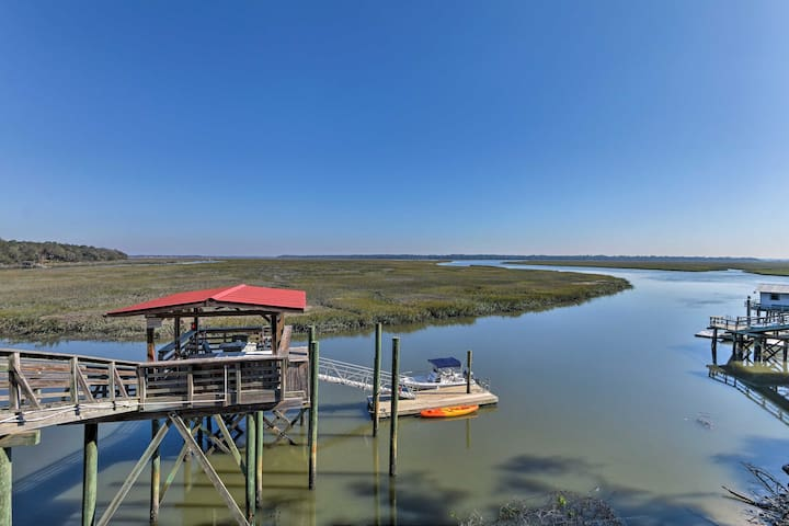 Waterfront Baisden's Bluff Home w/Dock & Views!