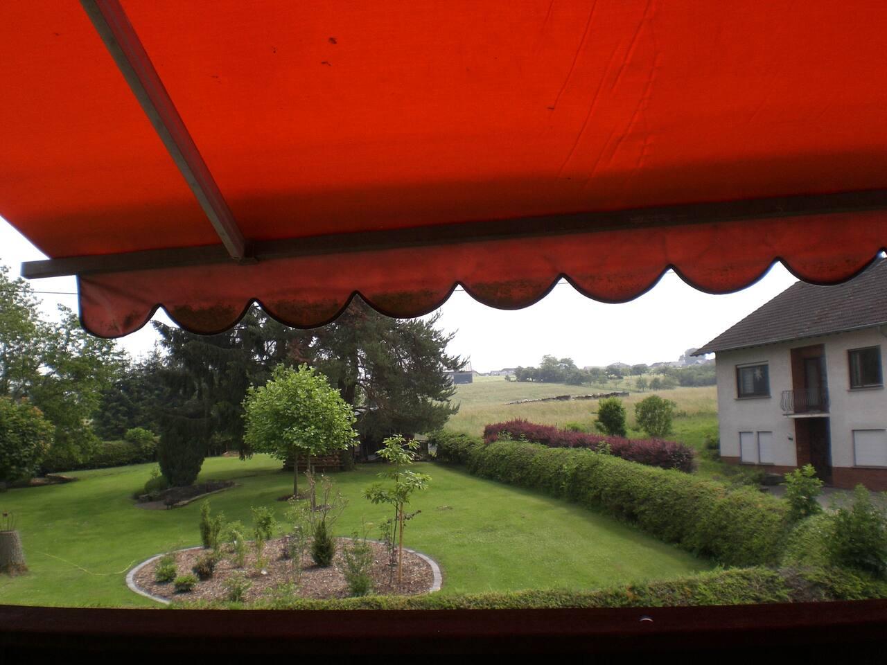 Ausblick vom Balkon aus