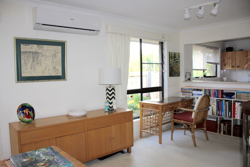 Lounge and office space with air conditioner