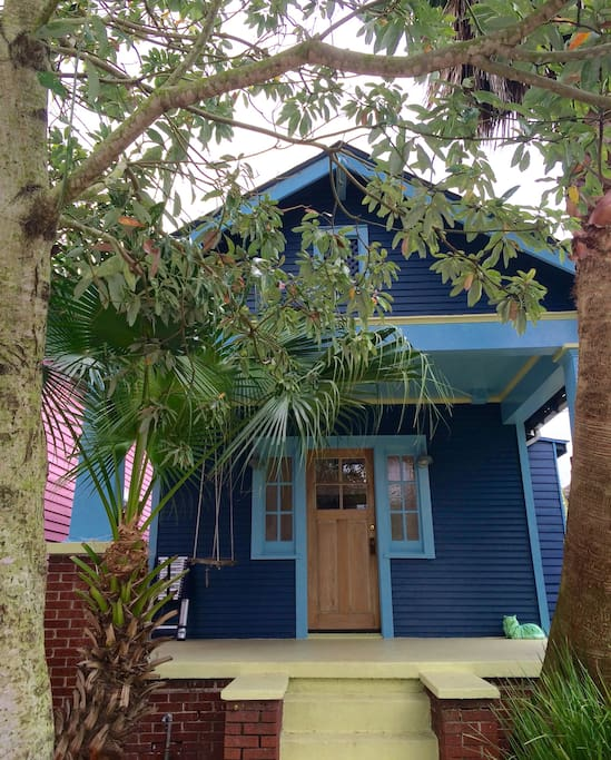 Our house, a historic yet funky 1920's bungalow in the Esplanade Ridge, Treme neighborhood.