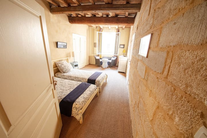 Center of Uzes - Charming B&B - Single Beds