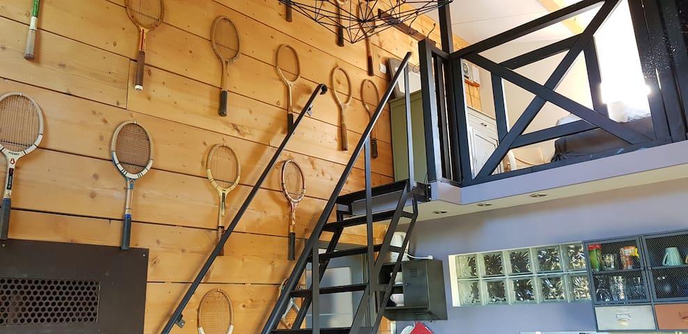 clin d'œil au tennis