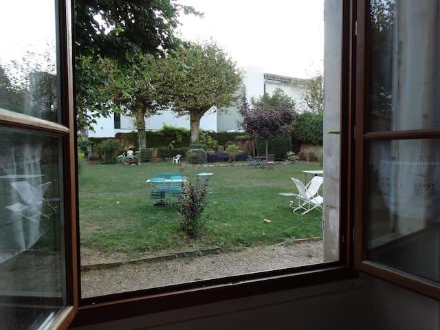 Chambre privée  sur jardin - Voiron - Appartement
