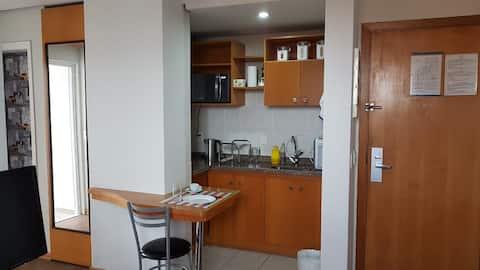 Flat confortável na av. Portugal em Santo André