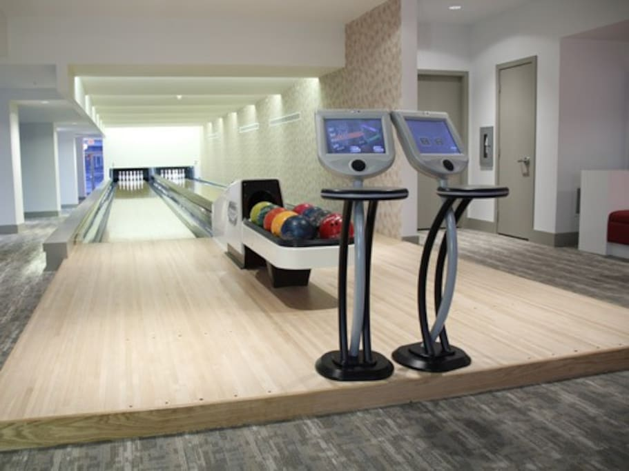 2 LANE BOWLING FROM THE FUTURE with hi-tec score keeper complements of your host